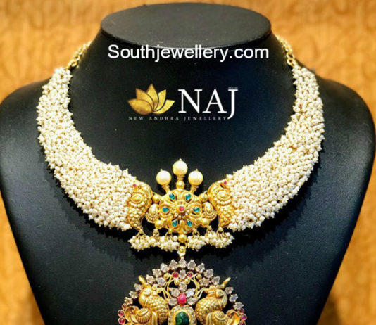 pearl necklace nakshi pendant