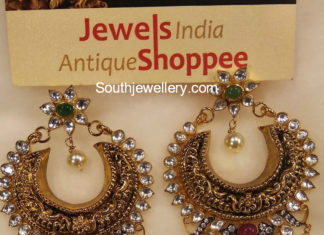 antique gold chandbalis
