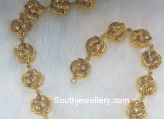 peacock necklace nakshi pendant
