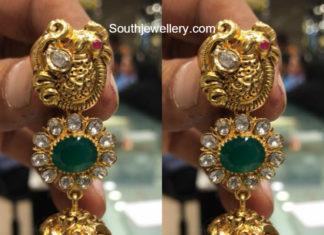 peacock gold jhumkas