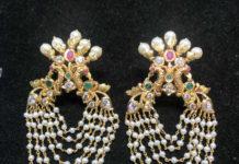 peacock pearl earrings