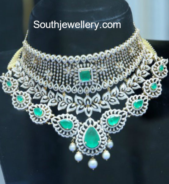 diamond emerald necklace