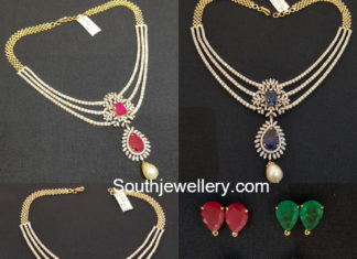 diamond necklace with changeable stones