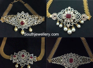 diamond ruby choker plus armlet designs