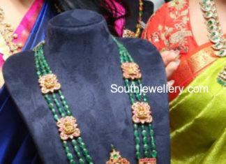emerald mala heavy pendant