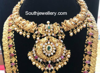 gold necklace and long haram sets