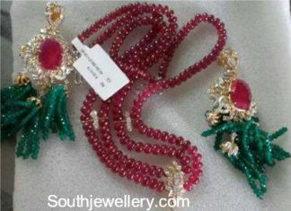 ruby emerald beads mala