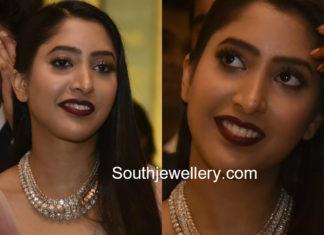 shriya bhupal diamond necklace wedding bash