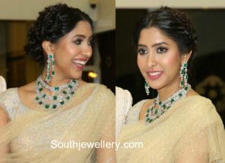 shriya bhupal diamond emerald jewellery wedding