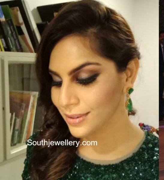 upasana kamineni emerald earrings