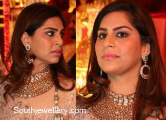 upasana kamineni jewellery in shriya bhupal wedding