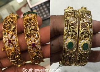 broad gold bangles