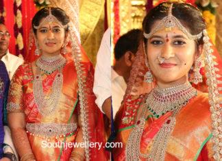 bride ashritha diamond jewellery