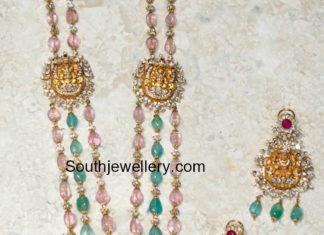 lakshmi beads haram and earrings