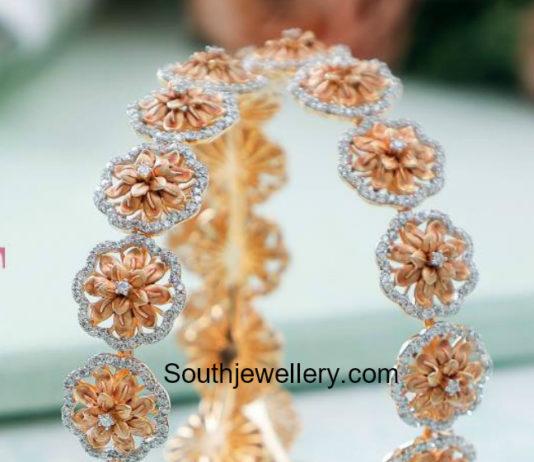 floral diamond bangles
