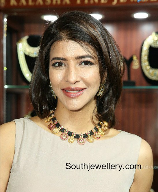lakshmi manchu black dori necklace