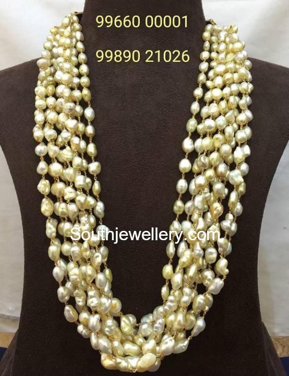 b8b9b30174281 Multi Strand Pearls Mala - Jewellery Designs