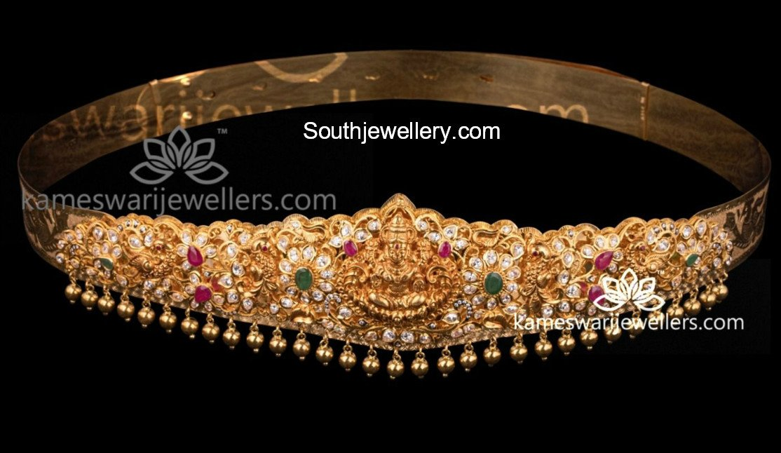 Uncut Diamond Lakshmi Vaddanam Jewellery Designs