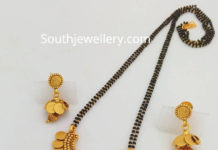 nallapusalu chain with kasu pendant