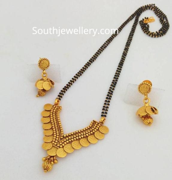 nallapusalu chain with kasu pendant