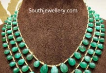 emerald step necklace