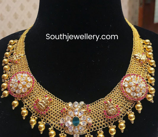 gold mesh necklace india