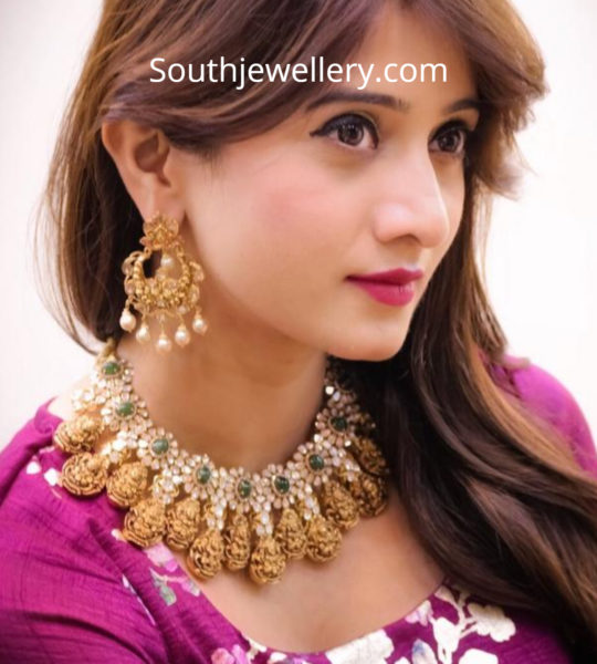 lakshmi polki diamond necklace