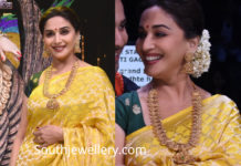 madhuri dixit traditional gold jewellery
