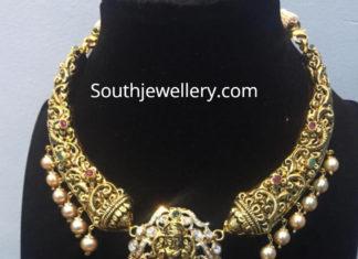 nakhsi necklace two step lakshmi pendant