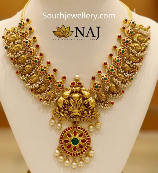 nakshi gold necklace