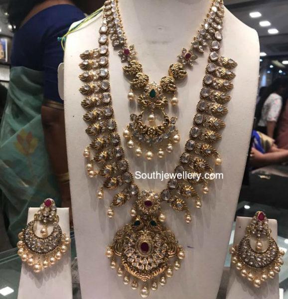 polki diamond bridal necklace and haram set