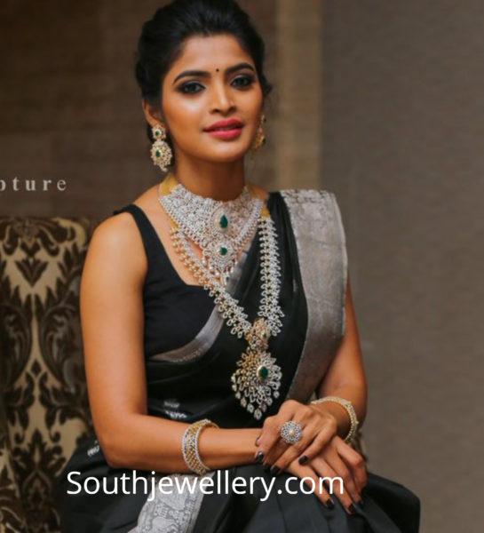 sanchita shetty diamond jewellery nac jewellers