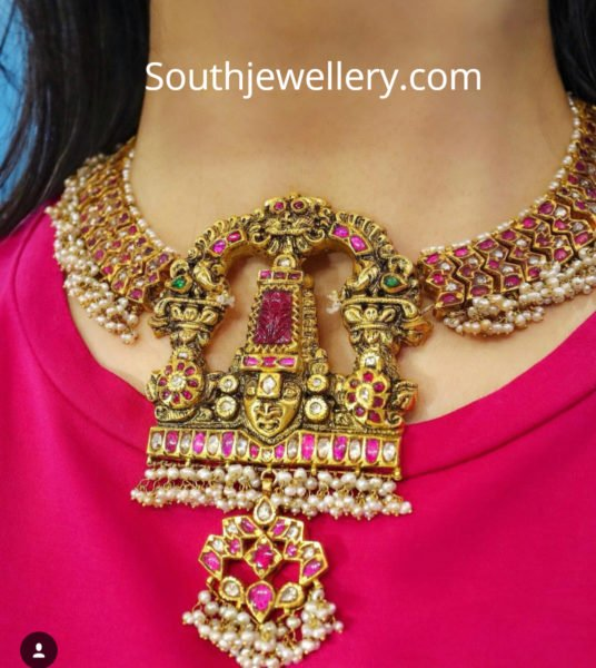 traditional south indian necklace