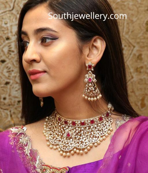 diamond ruby necklace and earrings kalasha fine jewels
