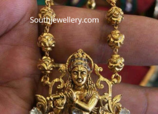 nakshi balls mala with lord krishna pendant