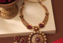 antique gold necklace manubhai jewellers