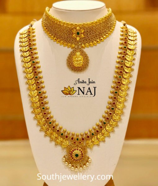 gold necklace and kasu haram