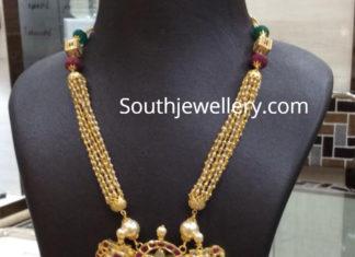 gundla mala with kundan pendant