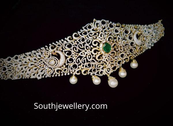 peacock diamond vaddanam