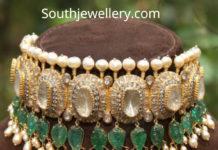 polki diamond emerald choker