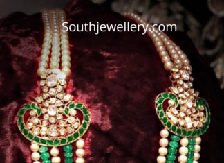 south sea pearl emerald necklace