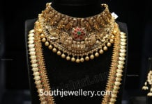 antique peacock nakshi choker and long haram