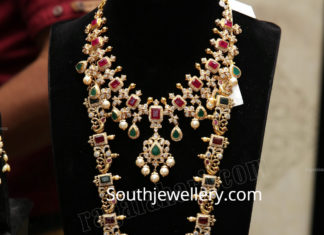 antique ruby necklace and haram