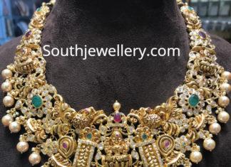 cz pacchi lakshmi necklace