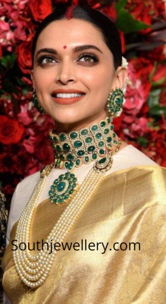 deepika padukone wedding reception jewellery