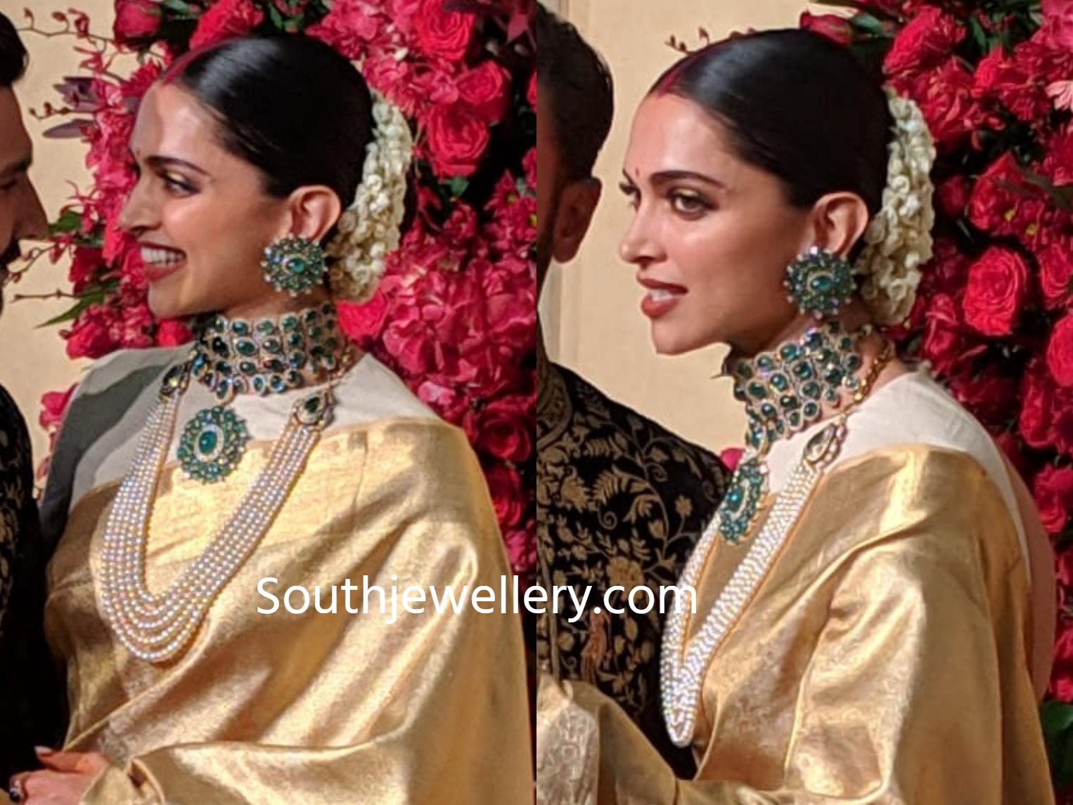Deepika Padukone S Wedding Reception Jewellery