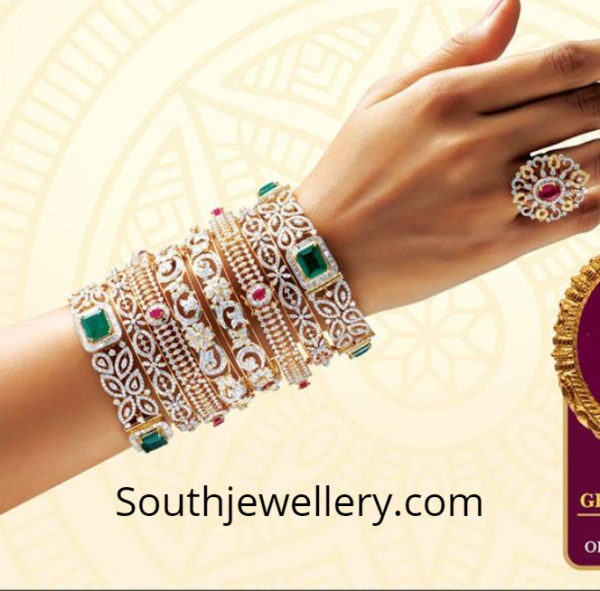 diamond bangles grt