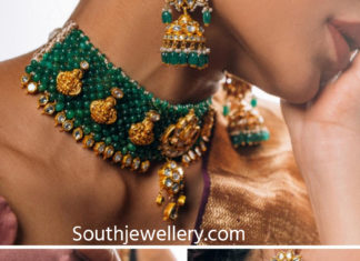 emerald beads choker