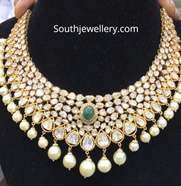 flat diamond necklace