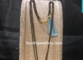nallapusalu chain with coral diamond pendant